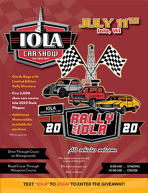 Rally for Iola 2020 8.5x10 program cover
