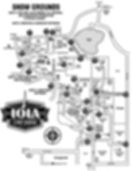 Iola Wisconsin Car Show and Swap Meet 2020 Map