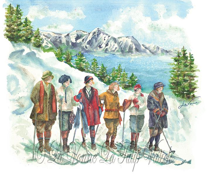Winter Skiing 1920 Lake Tahoe