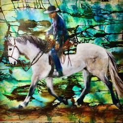 White Horse Rider by Maggie Stillwell