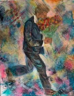 MStillwell Man with bouquet