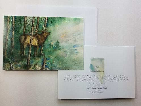 Bull Elk Note Cards