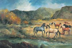 Horses in Meadow by Joyce Pike