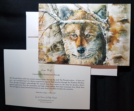 Lone Wolf Note Card