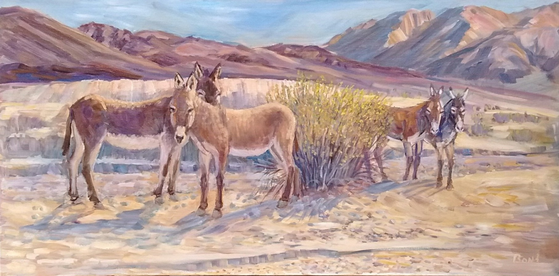 Salne Burro's, Oil, 15x30