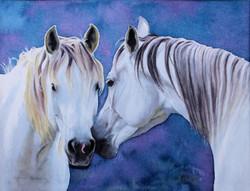 S.Greves-Neilson Moonlight Rendezvous 11x15 watercolor
