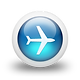 glossy-3d-blue-plane-icon--clean-3d-icon
