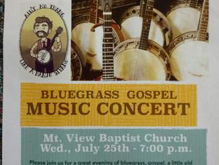 Bluegrass Gospel Music Comes to Walden