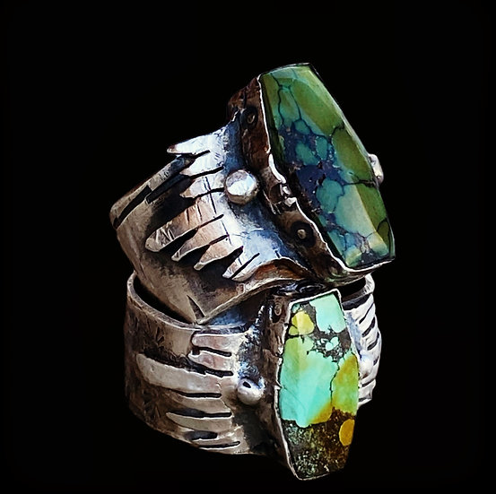 Heavy Metal #3 Sterling Silver Turquoise Ring