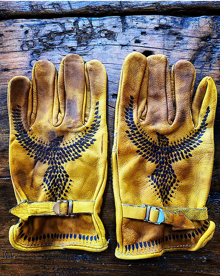 HAND DISTRESSED GRIT ☆ GLOVES