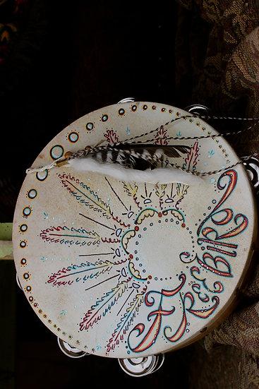Hand Painted Free Bird Tambourine  ❅  SOLD