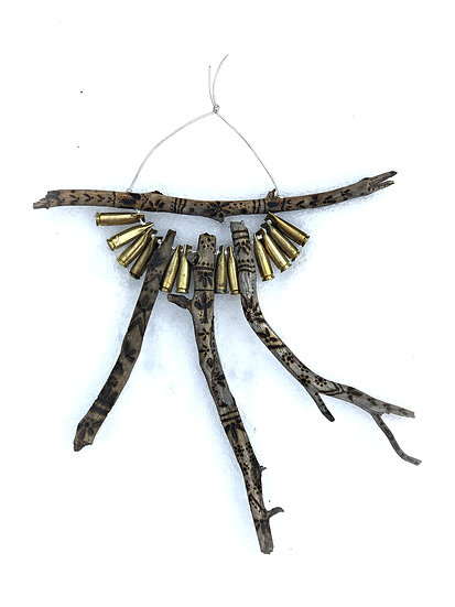 TWIG & BULLET WALL HANGING NO.3 custom available