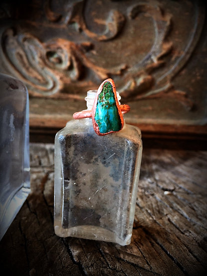 Turquoise Copper Alpine RIng #60 ❣ Size 7.5