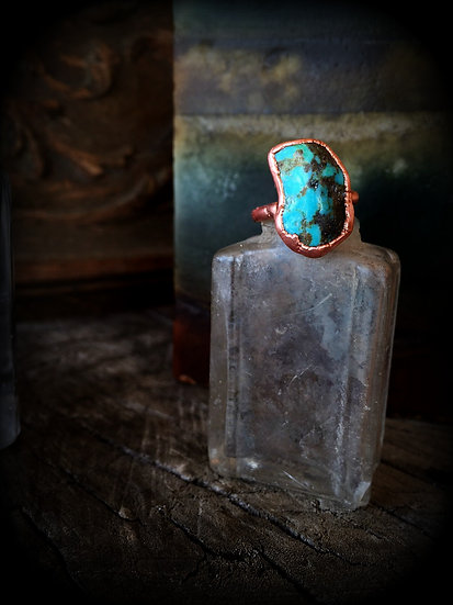 Turquoise Copper Alpine Ring #62 ❣ SOLD ❣