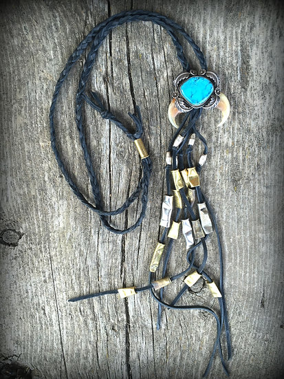 Calamity Old Pawn Bullet Fringe Bolo ❅ SOLD