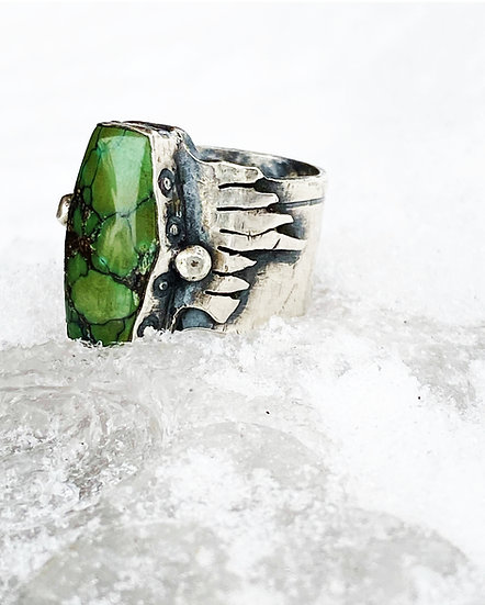 Heavy Metal Turquoise Ring