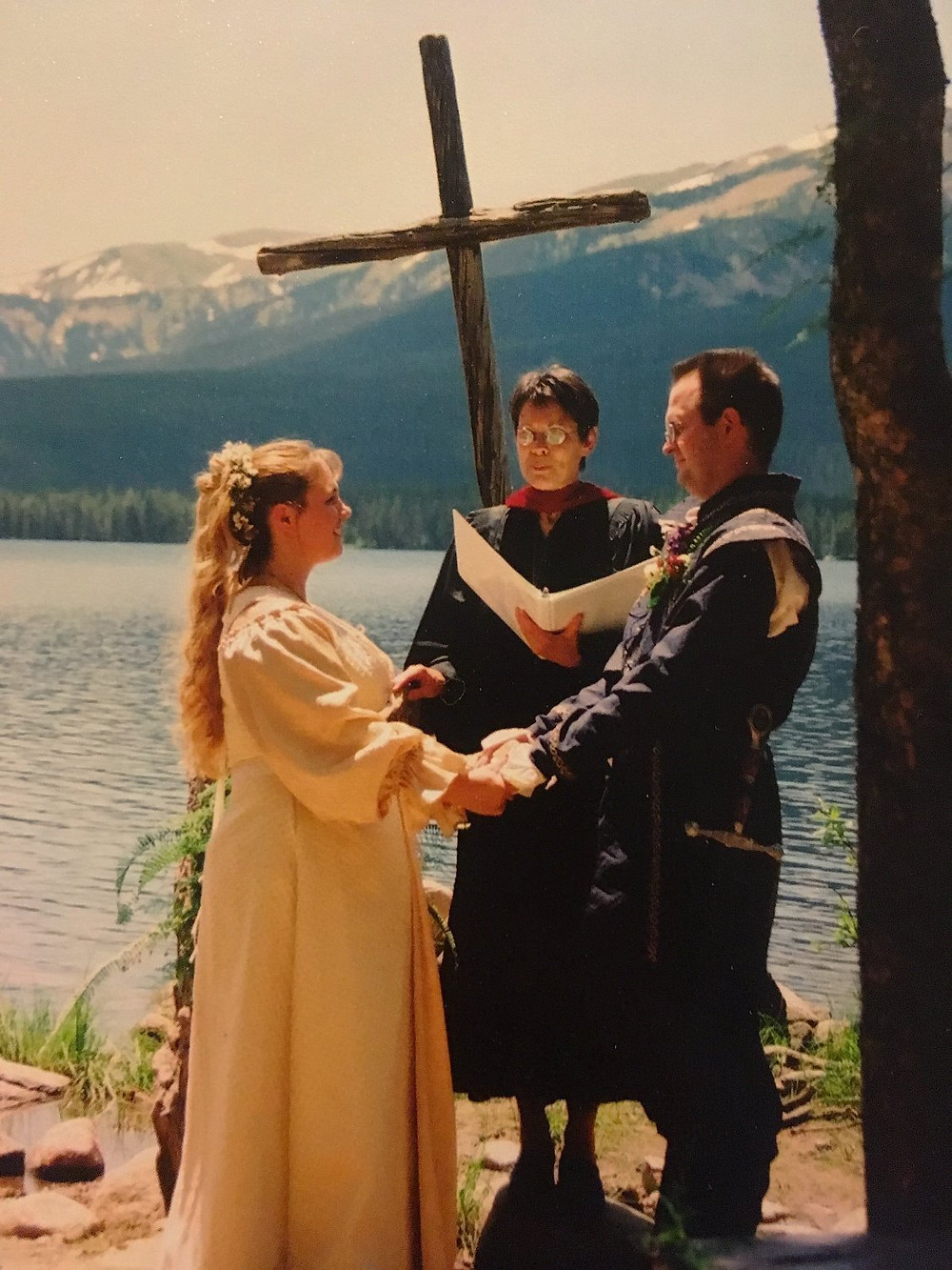 Wedding at the Chapel in the Pines at Big Creek Lakes, photo by Jamie J Brown Photography