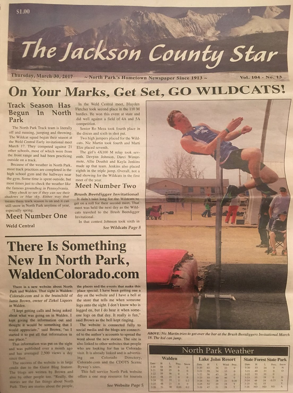 Jackson County Star Cover 3/30/2017