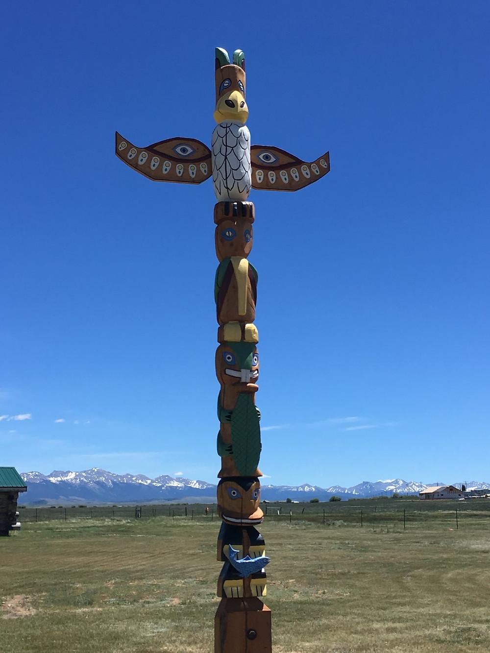 Totem Pole at Mansker Station