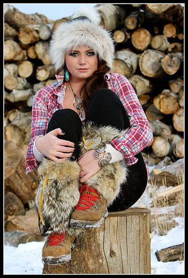 Coyote Fur ❅ Boot Warmers >custom order&lt