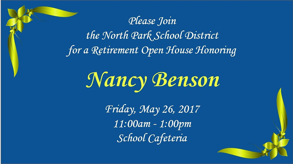 Retirement Party For Nancy Benson