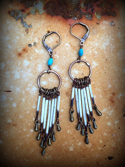 Pine Springs Porcupine Quill Earrings
