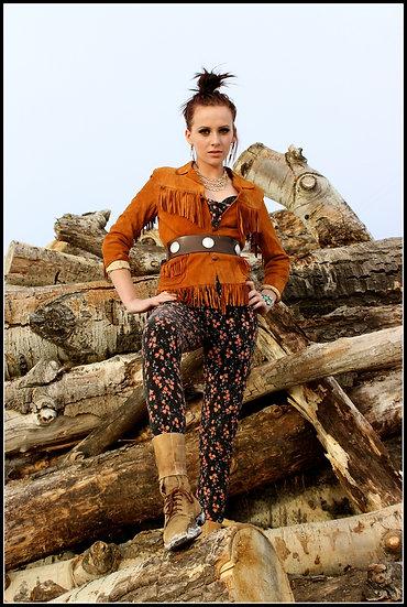 Vintage Outlaw ❅ Fringe Cowboy Leather ❅ Jacket