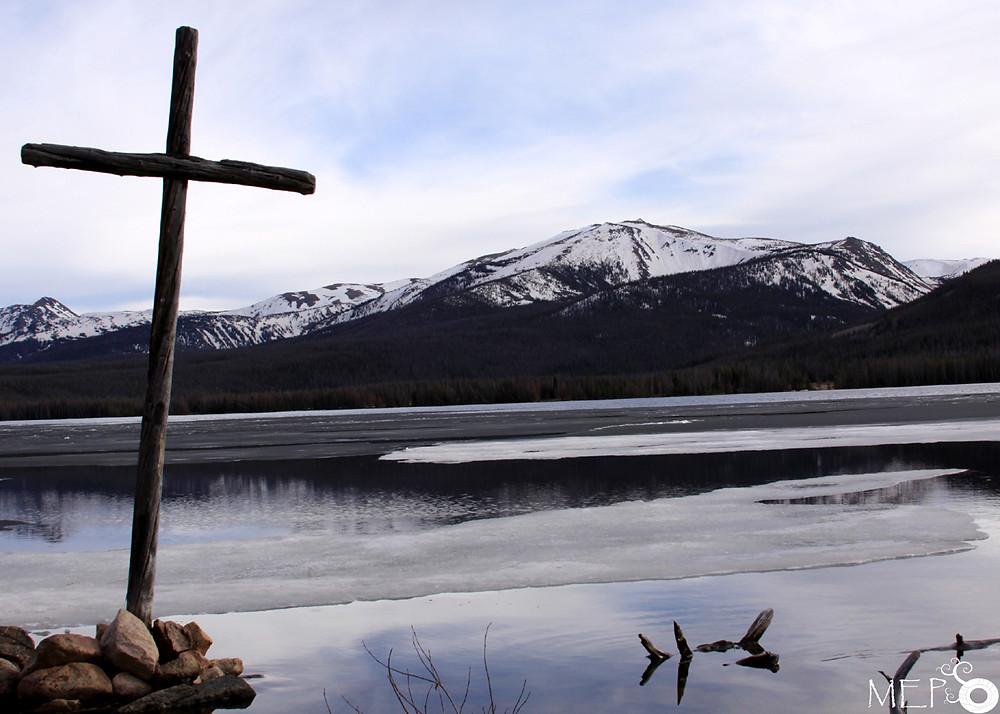Big Creek Lake Chapel at Ice Off