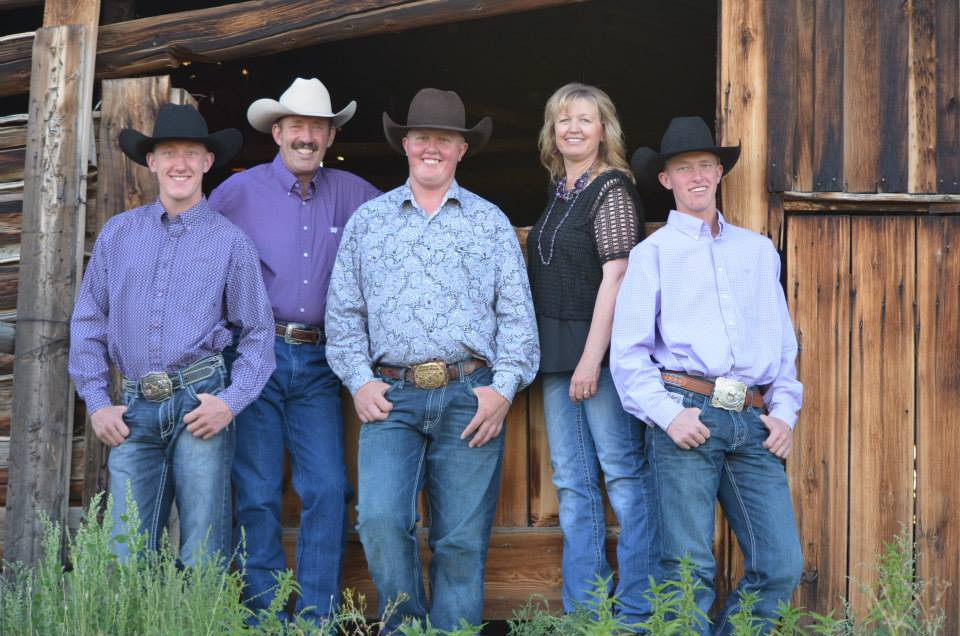 Clay, Clinton, Bryce, Debbie & Blake Russell, photo by Morgan Smith Photography