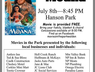 "Movies In The Park Features ""Moana"" Tonight"