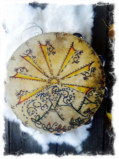 ✬ Hand Painted Tambourine✬ SOLD