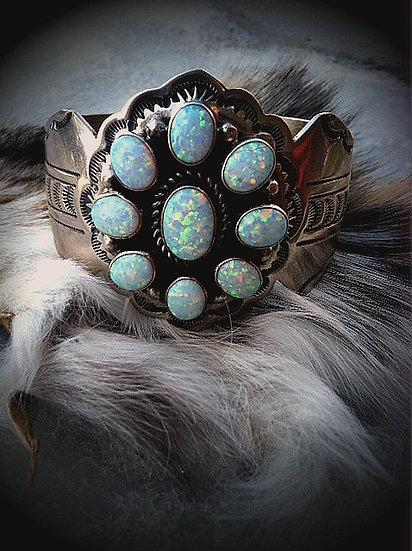 ROGUE✬DE✬LUXE    Fire Opal Stamped Cuff
