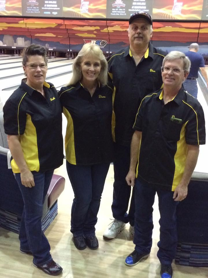 Danny and Kathi Manville with Diana and Glen Hurt at the National Bowling Center