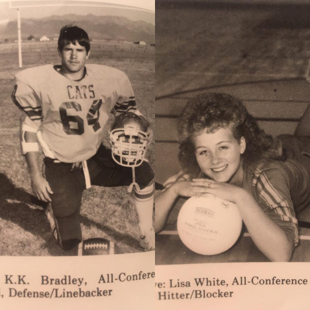 1987 Wildcat Power Couple KK Bradley and Lisa White-Bradley