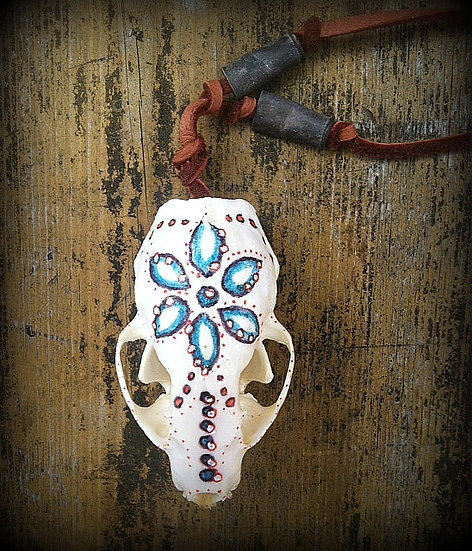 Hand Painted Tiny Skull  ❅ By Custom Order