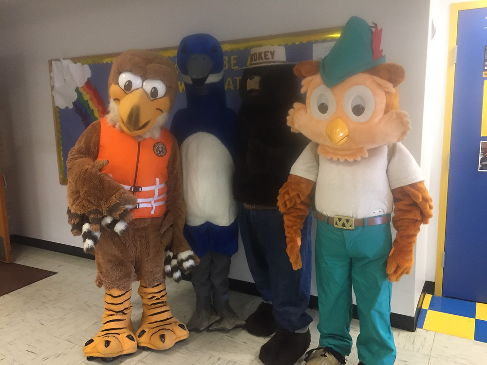 Mascots from agengy organizations