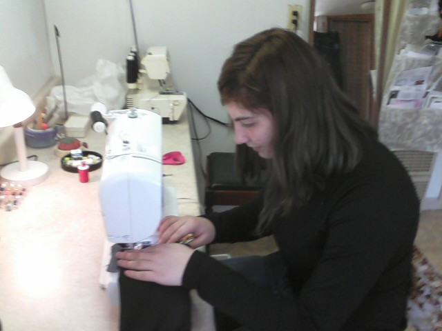 Jordan Larsen, NPHS working on her Senior Project