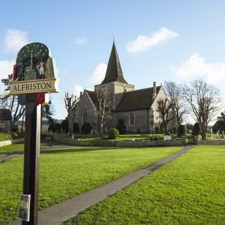 The Tye and Alfriston church