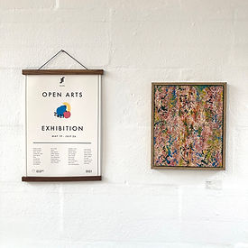 Open arts Exhibition - Poster & Lee Rile