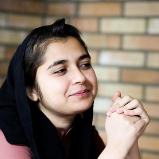 Hilla Shams, 17, Children's program show host, Kabul national Television