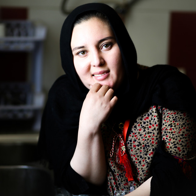 Simin Mohammadi, 24, Headchef, Parsa Cafe, Afghan girlscout leader