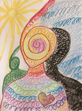 Spiral Heart Rainbow