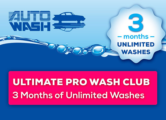 3 Month Unlimited Ultimate Pro Wash Club