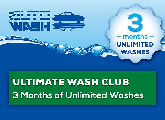 3 Month Unlimited Ultimate Wash Club