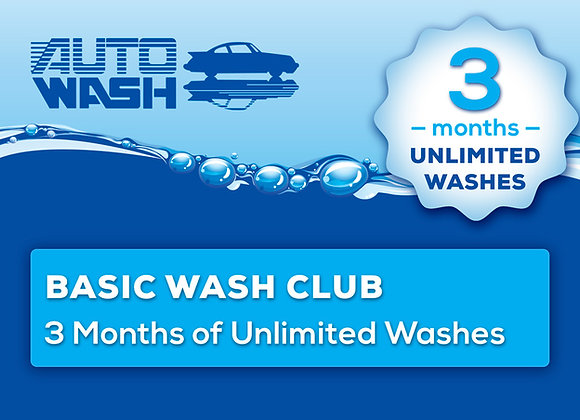 3 Month Unlimited Basic Wash Club