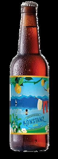 bouteille bière locale konstanz into the malt, bière blanche légère, bière primée, médaille d'or