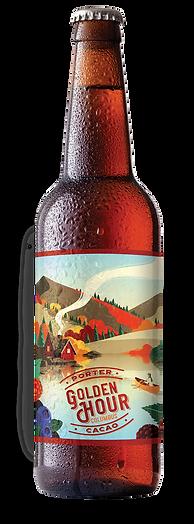 bouteille bière locale golden hour into the malt, bière primée, bière brune porter