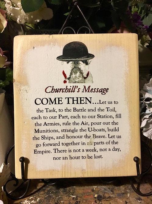 Churchill's message
