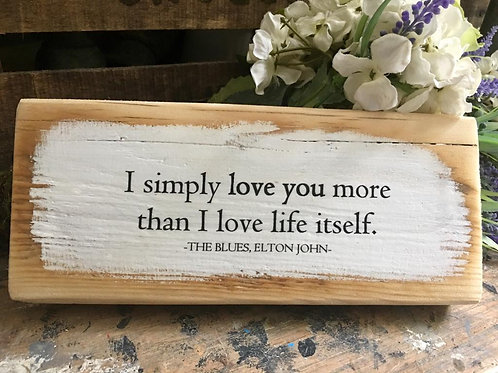 I simply love you more