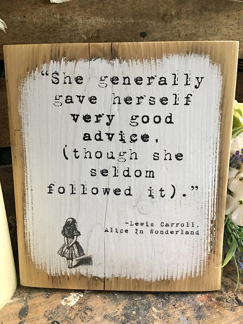 She generally gave herself